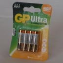 Mikrotužková baterie GP Ultra Alkaline R03 1,5V (AAA)