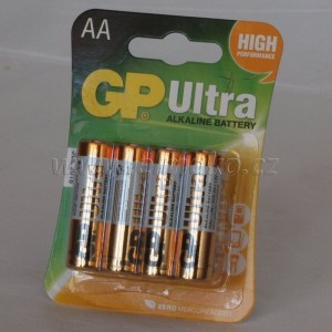 Baterie GP Ultra Alkaline R6 1,5V (AA, tužka)