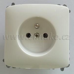 5519A-A02357 B Zásuvka jednonásobná Tango bílá, bezšroub