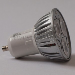 LED žárovka GU10 3W warm white power led
