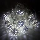 20 LED, 3 m, 1 W, Vánoční osvětlení - řetěz metal ball, IP 20, CW
