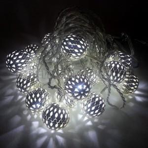 EMOS 20 LED, 3 m, 1 W, Vánoční osvětlení - řetěz metal ball, IP 20, CW