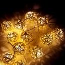 Vanoční ozdoba 16 LED, 3 m, 1 W, Vánoční osvětlení - řetěz koule, IP 20, WW