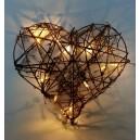 Vánoční srdce - 10 LED, 1W, 20 cm, teplá bílá