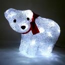 Vánoční dekorace medvěd - 16 LED, 1W, denní bílá