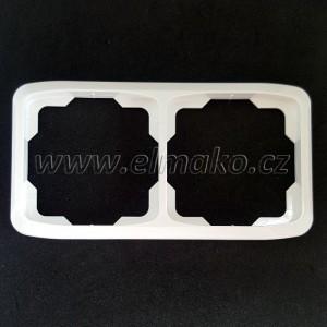 Rámeček dvojnásobný vodorovný 3901A-B20 B Tango bílá