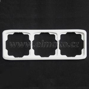 Rámeček trojnásobný vodorovný 3901A-B30 B Tango bílá