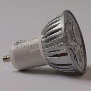 LED žárovka GU10 3W day light power led