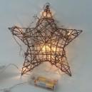 Vánoční hvězda - 10 LED, 1W, 25 cm, teplá bílá