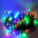 120 LED, 12 m, 7 W, Vánoční osvětlení - řetěz, IP 44, multicolor