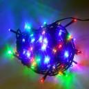 100 LED, 10 m, 6 W, Vánoční osvětlení - řetěz, IP 44, multicolor