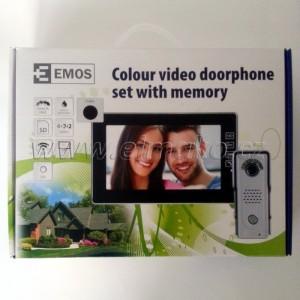 POŠTOVNÉ ZDARMA! EMOS H1018 Domácí videotelefon EMOS s pamětí, barevná sada, černá