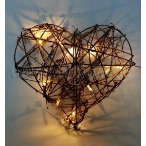 EMOS Vánoční srdce - 10 LED, 1W, 20 cm, teplá bílá
