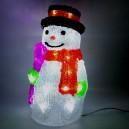 Vánoční dekorace sněhulák - 30 LED, 2W, denní bílá