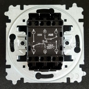 Strojek č.6+6 3559-A52345 ABB, střídavý dvojitý bezšroubový