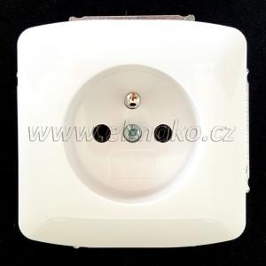 Zásuvka 5518A-A2349 B ABB Tango bílá, šroubová