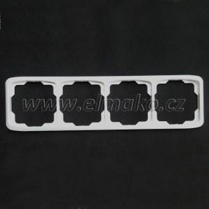 Rámeček čtyřnásobný vodorovný 3901A-B40 B Tango bílá
