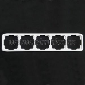 Rámeček pětinásobný vodorovný 3901A-B50 B Tango bílá