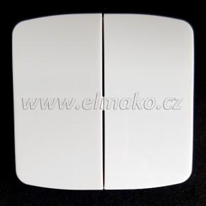 Kryt spínače dělený 3558A-A652 B Tango bílá